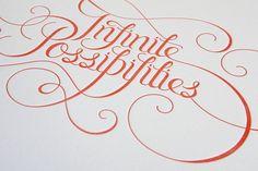 infinite possibilities #typography #letterpress