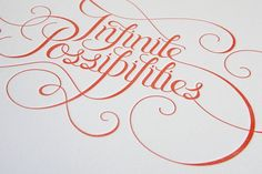 infinite possibilities #typography #letterpress
