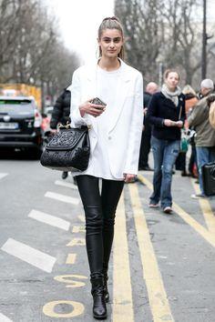 black & white. #TaylorHill #offduty in Paris.