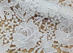 120cm High quality white  cotton lace fabric,guipure lace for dress