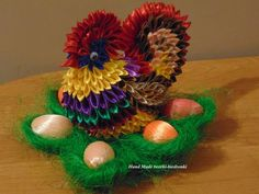 Ribbon Art, Ribbon Crafts, Silk Ribbon, Fabric Ornaments, Hair Ornaments, Styrofoam Ball, Cloth Flowers, Quilling, Christmas Bulbs