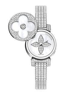 Montre haute joaillerie: Louis Vuitton Tambour Bijou Secret http://www.vogue.fr/joaillerie/shopping/diaporama/montres-haute-joaillerie-diamants-full-pavees/16442/image/884395#!montre-haute-joaillerie-louis-vuitton-tambour-bijou-secret