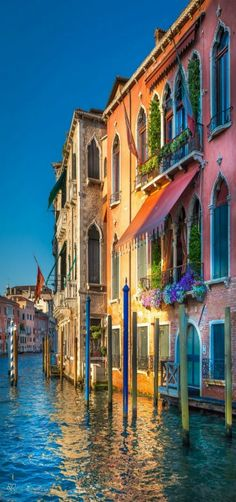 Evening in Venice, sun reflection, Italia by Riyaz Quraishi