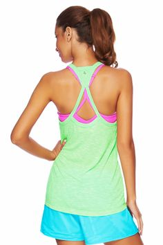 Lurve this tank from and Greens Women's Fitness Clothes l Lorna Jane Workout Tank : 011416 Baggy Shirts, Sports Luxe, Fitness Fashion, Women's Fitness, Womens Workout Outfits, Yoga Wear, Workout Tanks, Fitness Inspiration, Fit Women