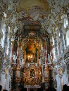 Wieskirche #bavaria #church http://www.bayern.by/unesco-welterbe-in-bayern-1.html
