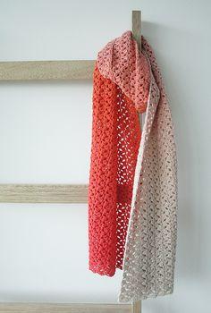 Scheepjes Whirl crochet pattern: The Little Meringue Shawl | Happy in Red