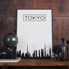 Tokio Kunstdruck, City Skyline, Tokio Skyline, Poster, Wanddekor, Bürodekor, Druckbare Kunst, Tokio Artprint, Digitaler Download von FineArtHunter auf Etsy