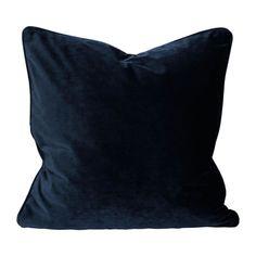 Svanefors Elise samettityynynpäällinen tummansininen - Tuppu-Kaluste Backrest Pillow, Throw Pillows, Bed, Tack, Products, Toss Pillows, Cushions, Stream Bed, Decorative Pillows