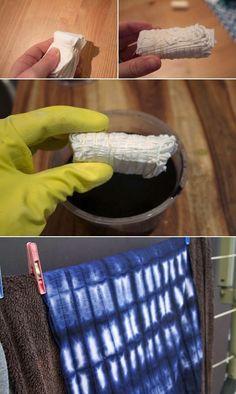 DIY Shibori dye photo tutorial by audra