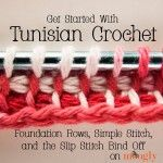 Get Started with Tunisian Crochet! This tutorial gets you going to day with no special equipment! Video and more at Mooglyblog.com
