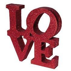 Deko Dekobuchstaben LOVE rot & Dekoration bei DekoWoerner