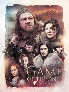 House Stark - Game of Thrones - Richard Davies