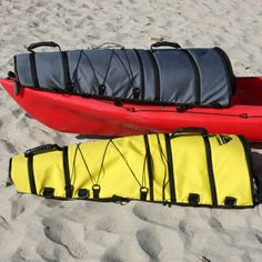 Diy canoe stabilizer brian s folding outriggers for for Kayak fish bag