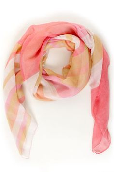 Check it out from Lulus.com! Looking for a scarf that you can count on? The Pinky Promise Pink and Peach Striped Scarf will never let you down! Stripes in various shades of pink, peach, coral, tan, and white cascade across a soft woven scarf to brighten your outfit as well as your day. Scarf measures 39