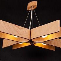 Lampa wisząca z naturalnym wyrazem drewna, lampy