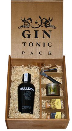 Kit Gin Tonic Ginebra Bulldog con utensilios y botánicos