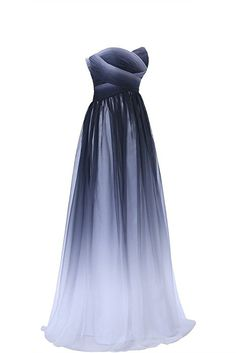 Gorgeous Bride Elegant Lang Traegerlos Empire Chiffon Abendkleider Festkleid Ballkleid -32 Mehrfabrig