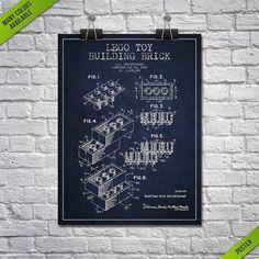 1961 Lego Toy Building Brick Patent posterPatent A #Art #Blueprint #Brick #building #decor #Gift #home #Idea #Lego #Patent #PatentsWallArt #posterPatent #print #Toy #Wall Building Toys, Brick Building, Stacking Blocks, Mug Printing, Beautiful Posters, Patent Prints, Art Prints, Wall Art, Gifts