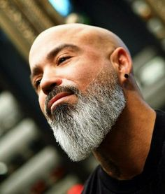 Best Beard Styles: Shaved Head With Beard – 90 Beard Styles For Bald Men. Bald Men With Beards, Bald With Beard, Black Men Beards, Long Beards, Long Beard Styles, Beard Styles For Men, Hair And Beard Styles, Viking Beard Styles, Hair Styles