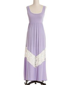 Look at this #zulilyfind! Lilac Lace Chevron Maxi Dress by Coveted Clothing #zulilyfinds