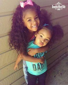 Keira - 5 Years & Mya - 2 Years • African American, Mexican & Italian ❤❤ FOLLOW @beautifulmixedkids on instagram