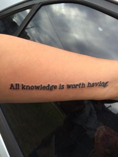My new tattoo... Quote from Kushiel's Dart