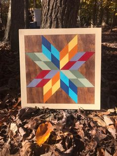 Barn Quilt Designs, Barn Quilt Patterns, Star Patterns, Quilting Designs, Quilting Ideas, Homemade Face Paints, Homemade Paint, Painted Barn Quilts, Barn Signs