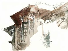 2014 sketching travel-January by Sunga Park, via Behance Watercolor Sketch, Watercolor Illustration, Watercolor Painting, Watercolors, Zebra Art, Drawing Sketches, Drawings, A Level Art, Art Station