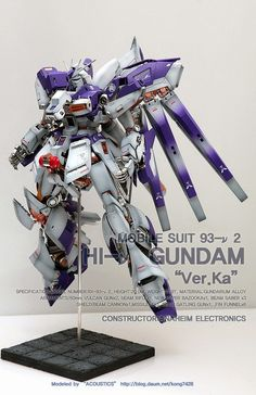 MG 1/100 Hi-Nu Gundam Ver. Ka 'Open Hatch' - Customized Build Modeled by: Acoustics  Images from: Acoustics