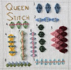 This tutorial is found at The Floss Box site.  This site has MANY tutorials for MANY different stitches as well as lots of helpful tips- RRM
