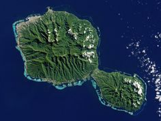 Tahiti from space