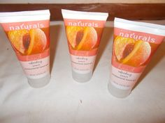 3 Avon Naturals Antibacterial Hand Gel Refreshing Peach 2.5 Fl Oz Wash #Avon