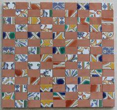 Chercal Rectangular Mosaic in Stone Mosaics