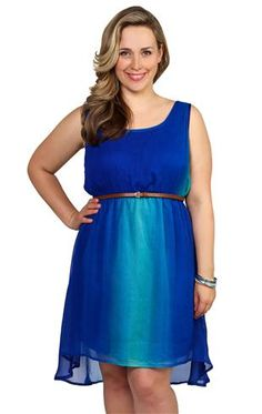 Deb Shops plus size #ombre #dress