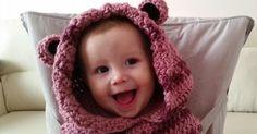 Tutorial #51: Cómo tejer una Capucha de Osito para Bebé   CTejidas [Crochet y Dos Agujas]