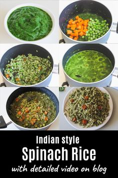 A perfectly delicious and easy palak rice recipe! You'll fall in love with the mild flavors. I have shared stovetop and Instant pot spinach pulao methods. Aloo Palak Recipe, Chaat Recipe, Kid Veggie Recipes, Vegetarian Rice Recipes, Curry Recipes, Biryani, Aloo Methi, Rice Side Dishes