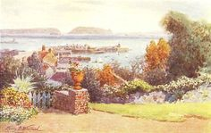 CHANNEL ISLANDS: View from old Government house hotel, Guernsey; print 1904