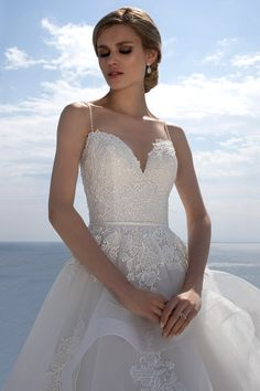 Mark Lesley Bridalwear 7428 - Mark Lesley Bridalwear Beautiful Wedding Gowns, Ruffle Skirt, Beaded Lace, Designer Wedding Dresses, Ball Gowns, Most Beautiful, Tulle, Bridal, Collection