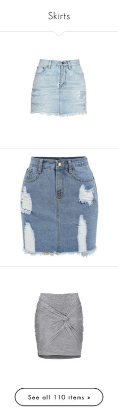 """Skirts"" by power-beauty ❤ liked on Polyvore featuring skirts, mini skirts, bottoms, denim, saias, light denim, yves saint laurent skirt, short blue skirt, yves saint laurent and blue mini skirt"