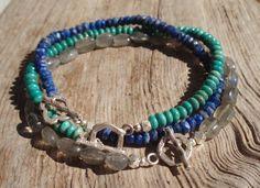 Multibracelet set THREE bracelet combination by kudzupatch on Etsy, $120.00