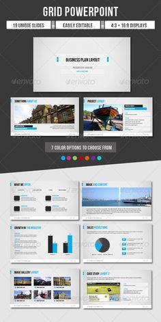 Presentation Templates - Grid Powerpoint   GraphicRiver