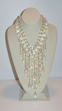 Hey, I found this really awesome Etsy listing at https://www.etsy.com/listing/228502277/joan-rivers-waterfall-necklace-clear