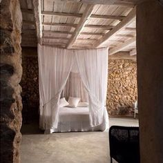 Sleep tight everyone (and good morning at some other places on earth ) #wabisabi #greekcottage #stonewall #himmelssäng photocred: lefteris Miaoulis by helena_aro presented by SuperiorCustomLinens.com