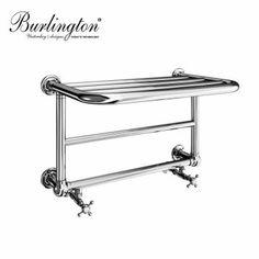 Thanks for pinning!  www.ukbathrooms.com  :-) Product image for Burlington Strand Bathroom Towel Radiator with Shelf
