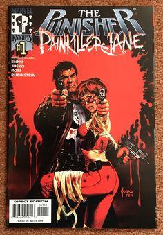 The Punisher/Painkiller Jane vol 1 Punisher Comic Book, Punisher Comics, Marvel Comic Books, Comic Books Art, Comic Art, Marvel Comics, Comic Book Artists, Comic Book Characters, Comic Manga