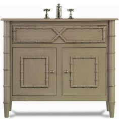 I love bathroom cabinets that look like attractive furniture- there's no reason they need to be merely utilitarian.