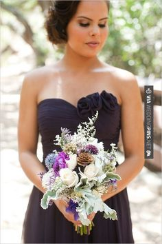 Yes - rustic wedding bouquet for bridesmaid | CHECK OUT MORE GREAT BLACK AND WHITE WEDDING IDEAS AT WEDDINGPINS.NET | #weddings #wedding #blackandwhitewedding #blackandwhiteweddingphotos #events #forweddings #iloveweddings #blackandwhite #romance #vintage #blackwedding #planners #whitewedding #ceremonyphotos #weddingphotos #weddingpictures