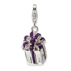 Jewelry Adviser Sterling Silver 3-D Wine Rack w//Lobster Clasp Charm