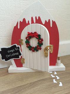 Elf door Beautiful magical door glitter snow Christmas