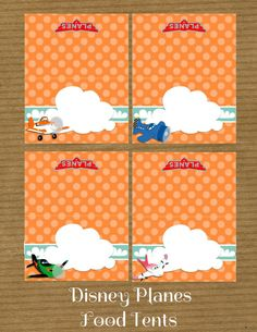 Disney Planes  Printable Food Tents by RayningGrace on Etsy, $4.00